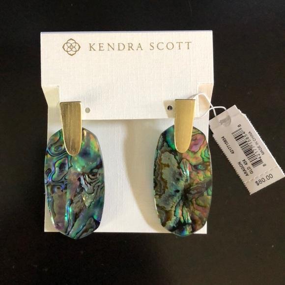 0918208fe246f8 Kendra Scott Jewelry | Aragon Gold Statement Earrings In Abalone ...